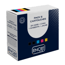Pack de 5 ALTERNATIF Epson C13T33574010 / 33XL - Cartouche d'encre multi pack